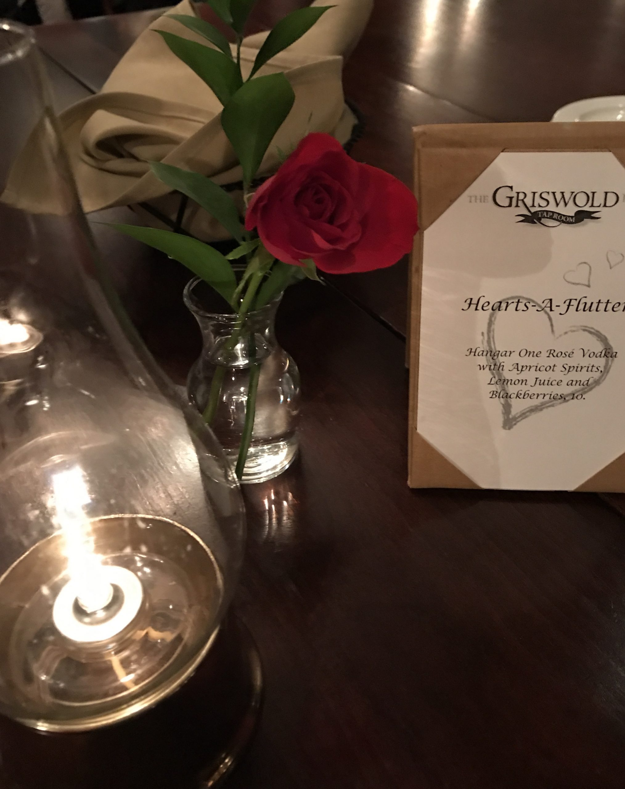 Valentine's Day Dining Viignette
